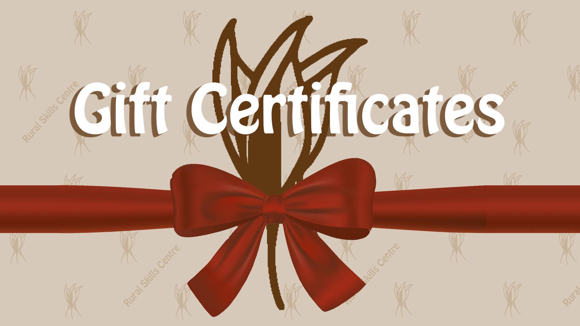 Gift Certificates Slide 1